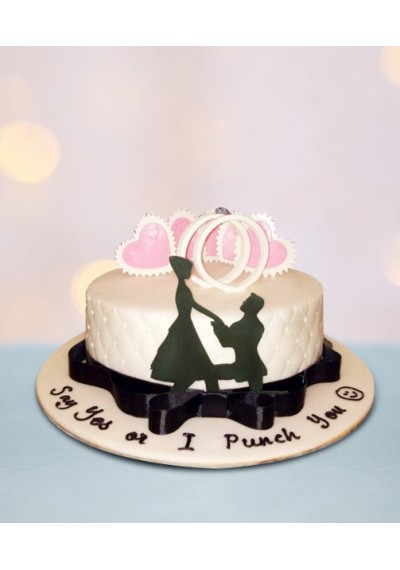 Proposal Wedding Cake